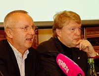 JFW Pressekonferenz 2011: Fritz Thom/JFW, Dietmar Hoscher/Casinos Austria